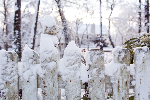 Snow on Picket fence - Chattanooga, TN