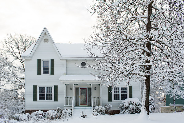 Chattanooga home in the snow