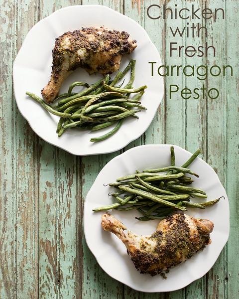 Chicken Baked with Fresh Tarragon Pesto | Sidewalk Shoes