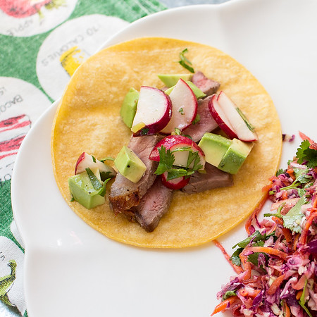 You won't believe how flavorful these Beef Tacos with Radish and Avocado Salsa are!