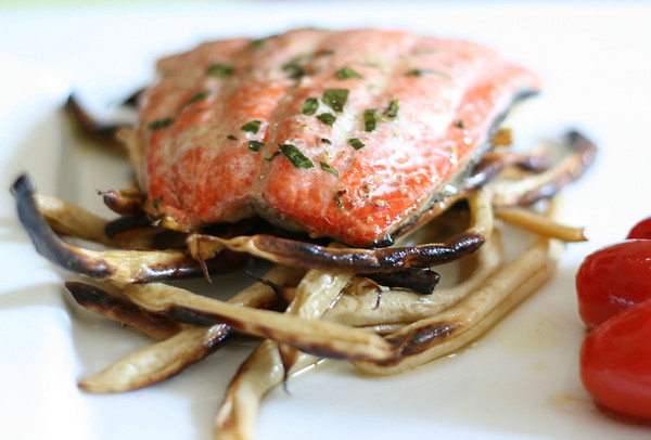 Salmon Roasted with Butter