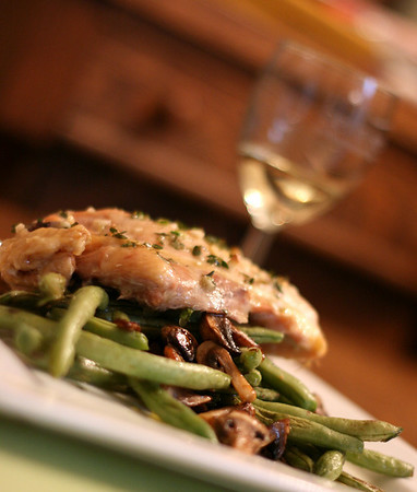Chicken with Mushrooms and Green Beans
