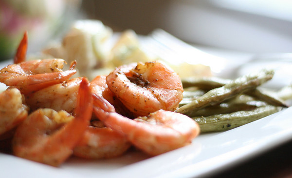 Shrimp with Lemony Potato Salad