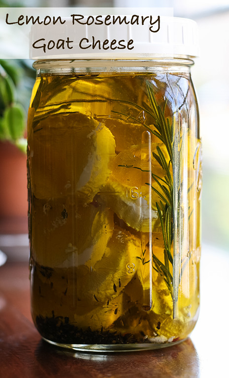 Lemon Rosemary Goat Cheese - Make your own delicious marinated cheese!