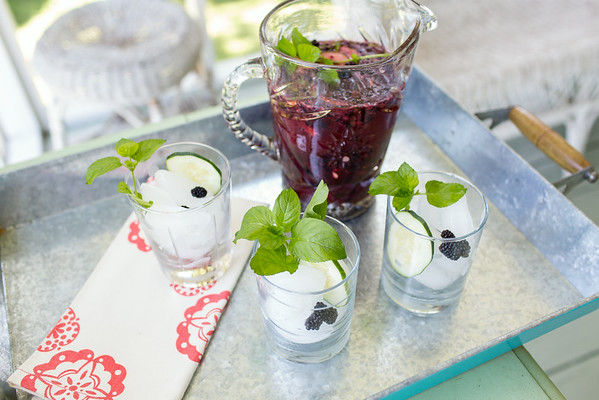 A pitcher of this blackberry cocktail makes summer entertaining delicious and easy!
