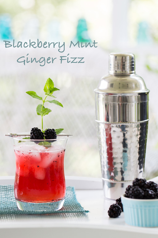 Blackberry Mint Ginger Fizz - Ginger beer makes this an easy and refreshing summer cocktail.