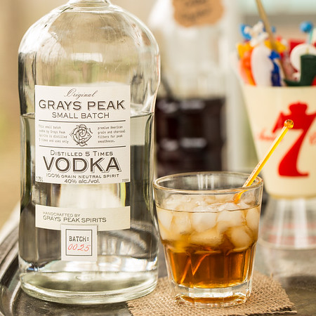 Black Russian made with Grays Peak Small Batch Vodka