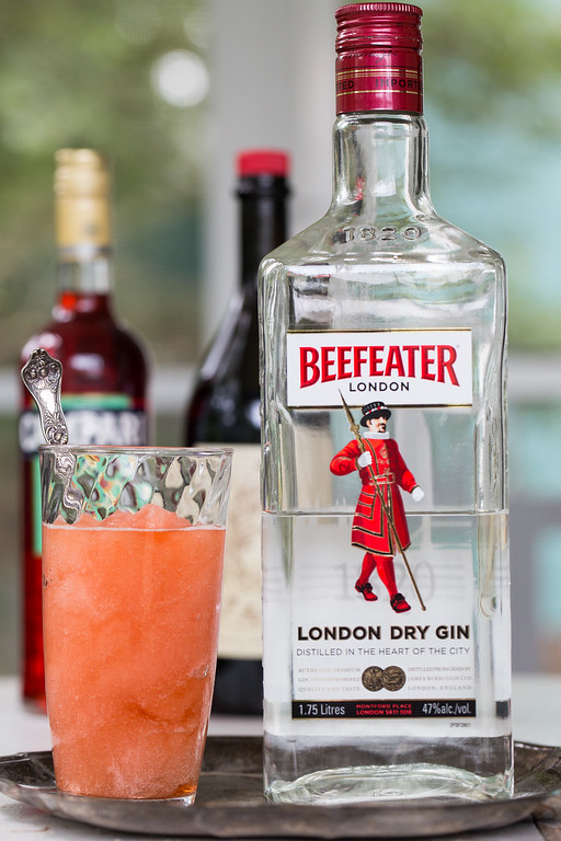 Beefeater Gin for a Frozen Negroni for Negroni Week