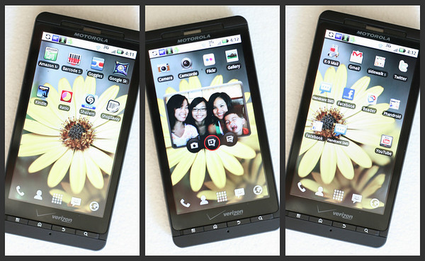 First 3 Droid X Screens