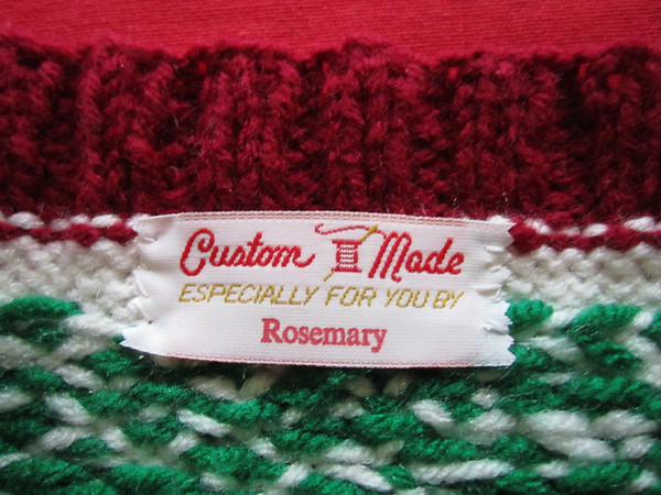 Label for Christmas stocking