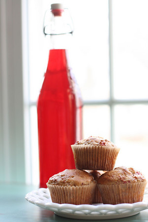 Muffins with Cranberry Liqueur
