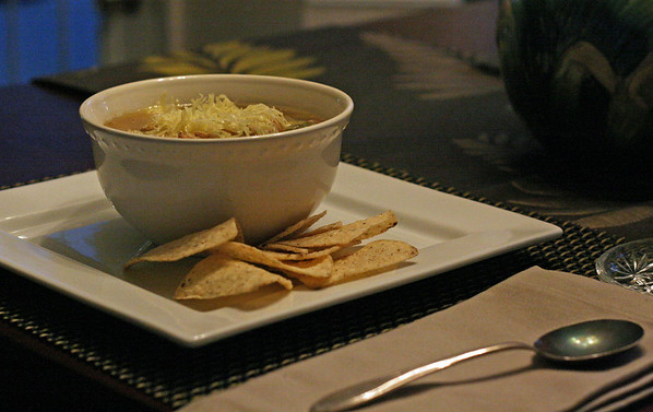 Green Chili with Crispy Corn Tortilla Strips
