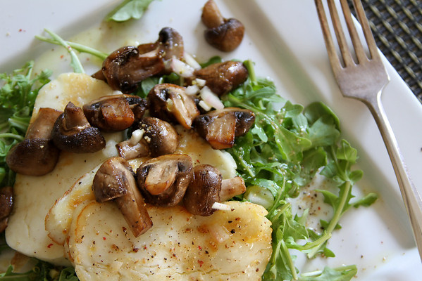 Warm Mushroom and Haloumi Salad