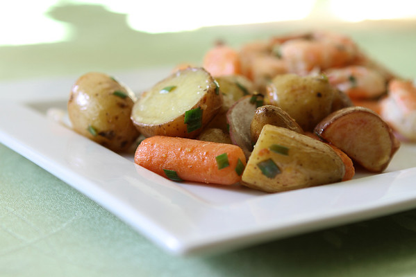 Lemon Chive Roasted Vegetables