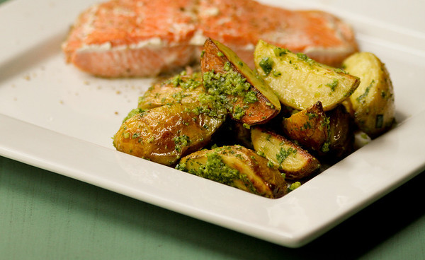 Potatoes with Chive Pesto