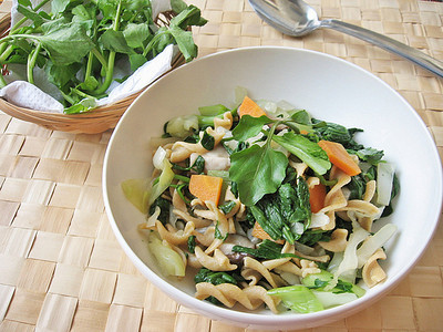 Watercress, Bok Choy Pasta Salad