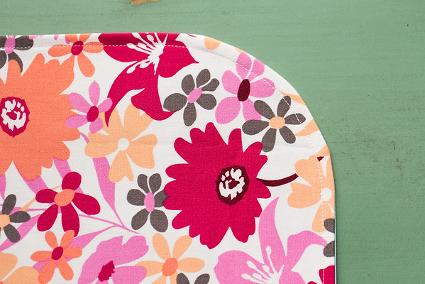 Sewing around the edge of #WaysToWow placemats