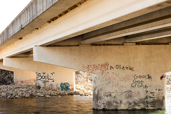 Graffiti on bridge