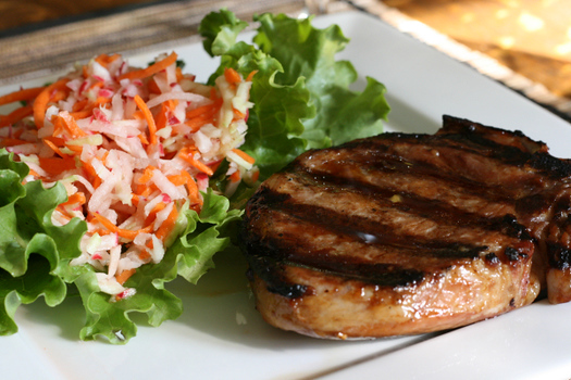 Pork Chop with Slaw