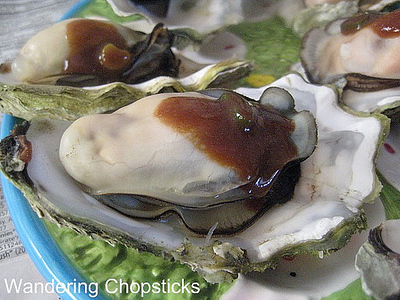 Chinese Steamed Oysters with Black Bean and Scallion Sauce