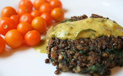 Lentil and Spinach Patties
