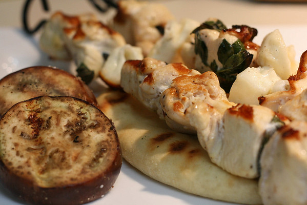 Chicken with Haloumi