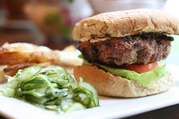 Grilled Mustard-Dill Burgers