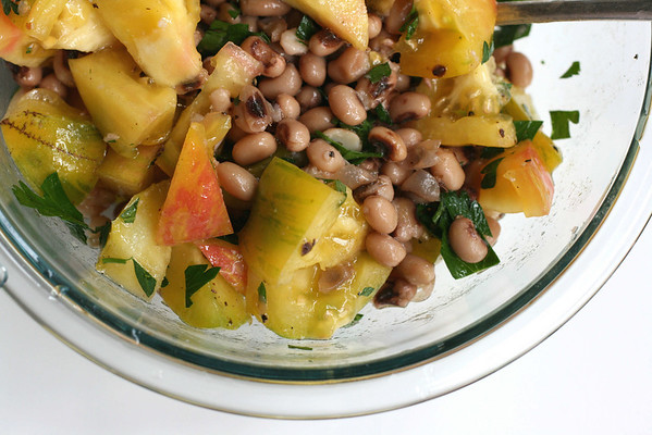 Heirloom Tomatoes and Black-Eyed Peas