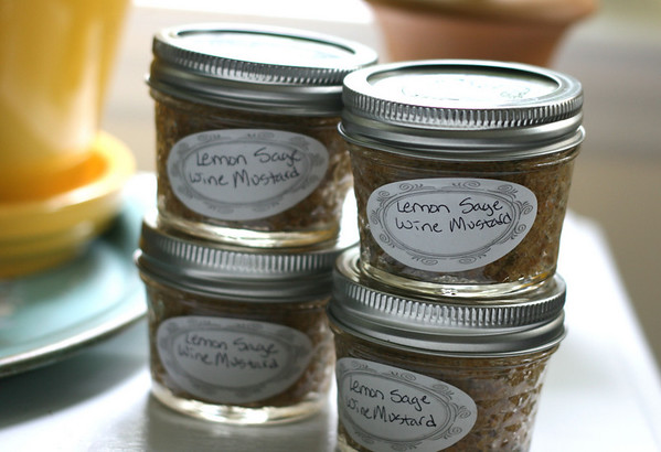 Lemon-Sage Wine Mustard