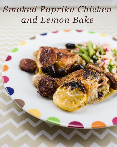 Smoked Paprika Chicken and Lemon Bake