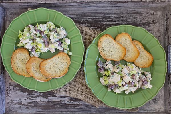 Tarragon Chicken Salad Veronique featured at Sidewalk Shoes