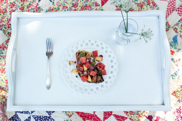 Marinated Grilled Chicken with Watermelon-Jalopeno Salsa