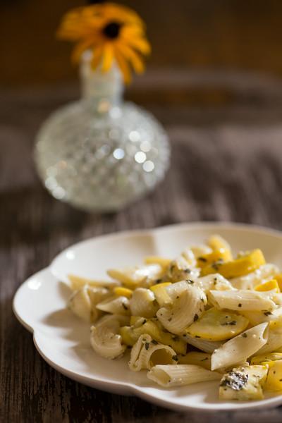 Zucchini and Mint Pesto Pasta | Sidewalk Shoes