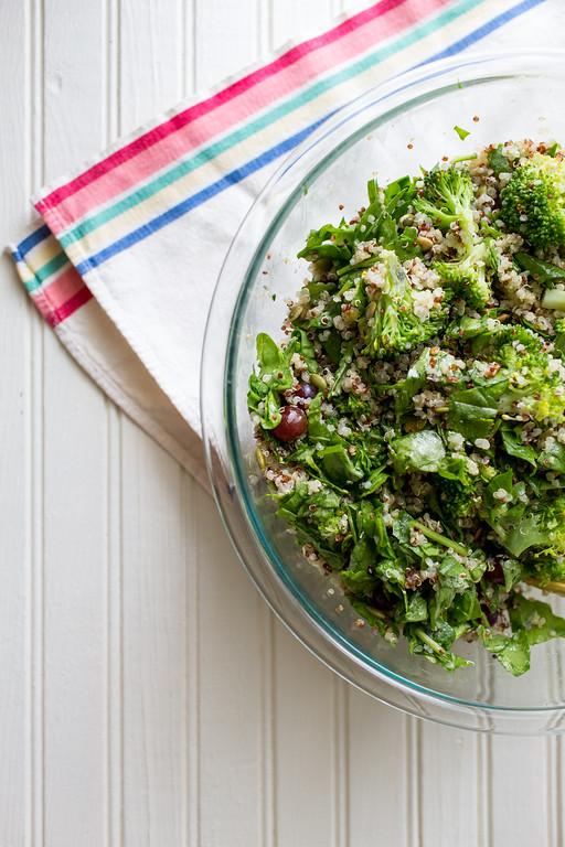 Use this simple formula to make any kind of grain salad, like this Broccoli Quinoa Grain Salad