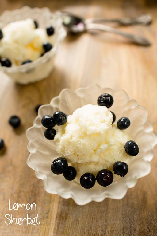 Lemon Sherbet - easy, light and refreshing!