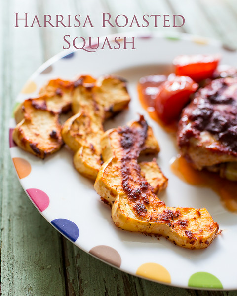 Harissa Roasted Squash - sweet and spicy!