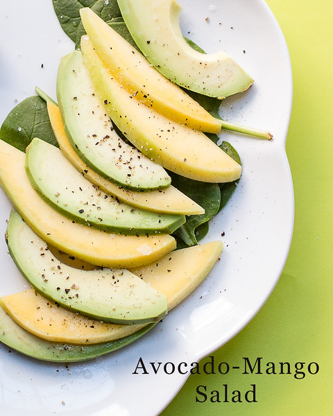 Avocado-Mango Salad - insanely easy and so good!! Try it!