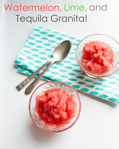 Watermelon, Lime, and Tequila Granita | Sidewalk Shoes
