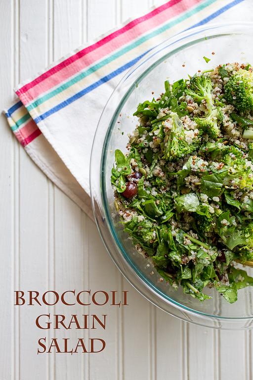Use this simple formula to make any kind of grain salad like this Broccoli Grain Salad