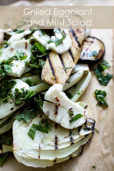 Grilled Eggplant and Mint Salad   Sidewalk Shoes