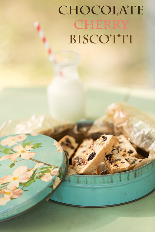 Chocolate Cherry Biscotti - semi sweet chocolate and tart dried cherries combine in this wonderful Chocolate Cherry Biscotti!