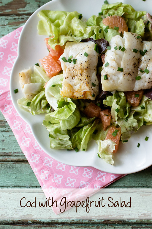 Cod with Grapefruit Salad - easy and delicious!