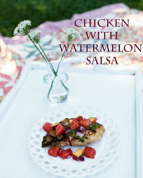 Marinated Grill Chicken with Watermelon-Jalopeno Salsa