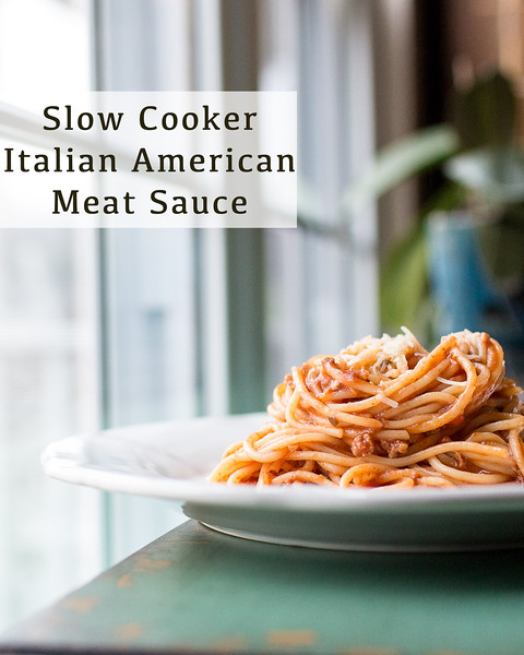Slow Cooker Italian Meat Sauce