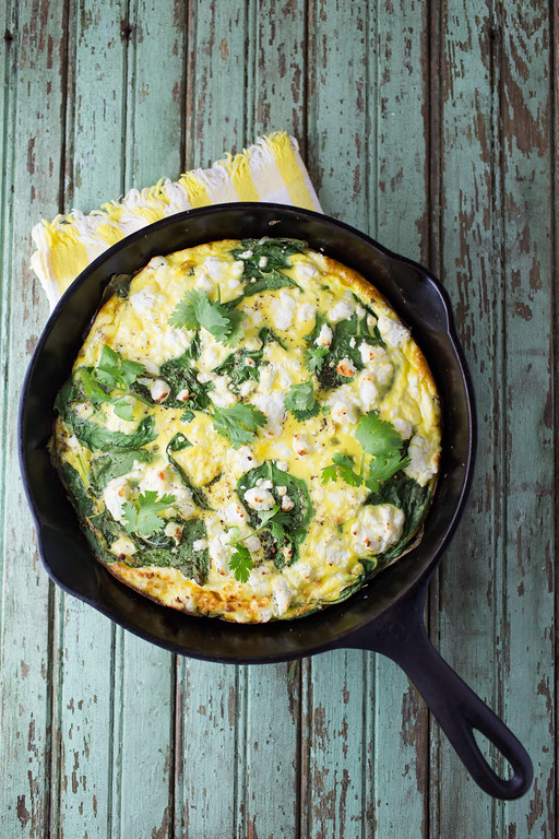 Sweet Potato and Baby Spinach Frittata