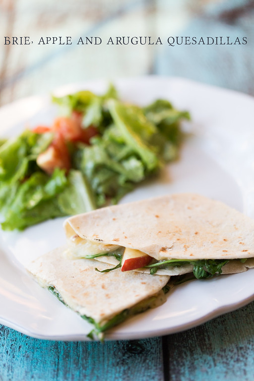 This Brie, Apple and Arugula Quesadilla makes the perfect light lunch or dinner.
