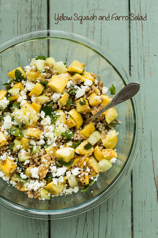 Yellow Squash and Farro Salad - the perfect grain salad for summer!
