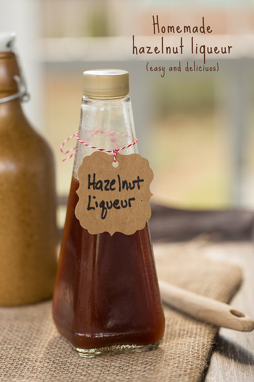 Homemade Hazelnut Liqueur - so easy and so delicious!