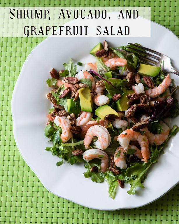 The perfect winter salad - Shrimp, Avocado and Grapefruit Salad!