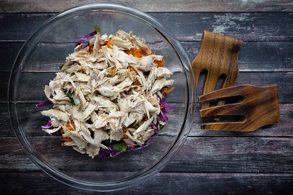 Chicken and Cabbage Salad with Fresh Mint - make it easy with rotisserie chicken!